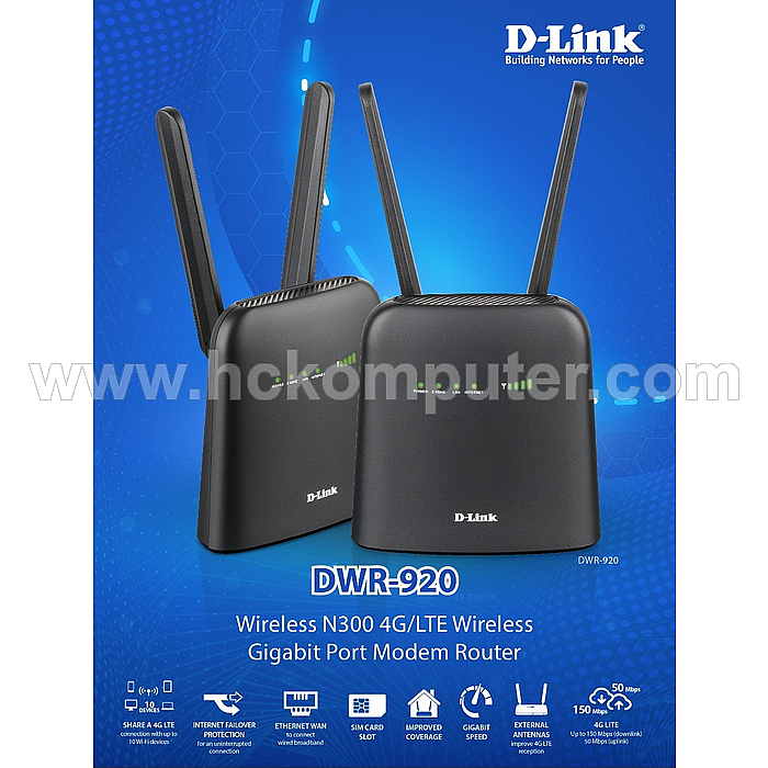 Wireless Router 3G & 4G D-LINK DWR-920 300mbps
